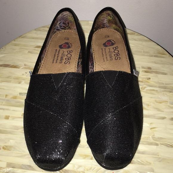 Skechers Shoes | Bobs By Black Glitter